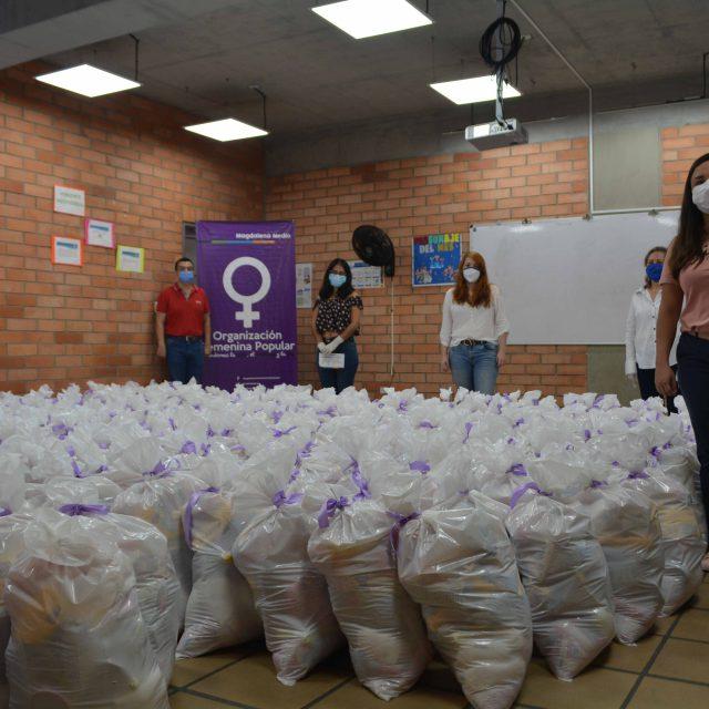 En Santander y el Magdalena Medio la Organización Femenina Popular apoya a 2.250 mujeres en medio de la pandemia del COVID-19